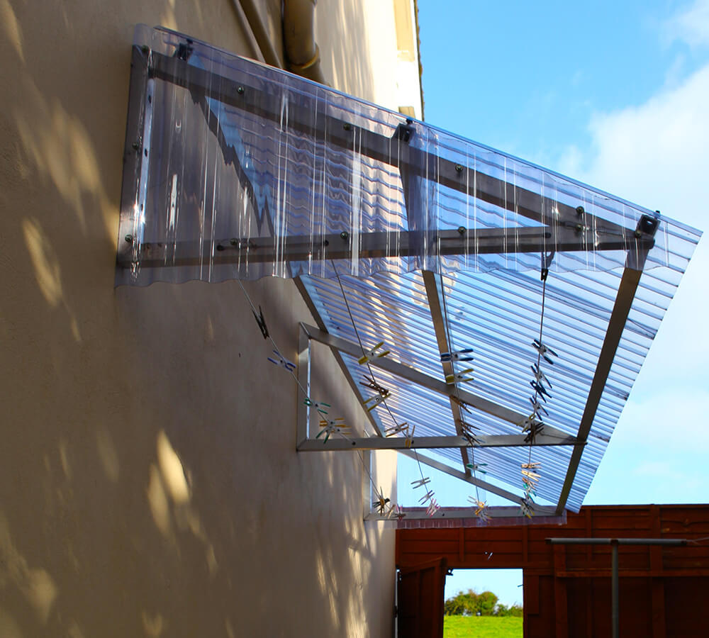 12ft Covered Clothesline Canopy